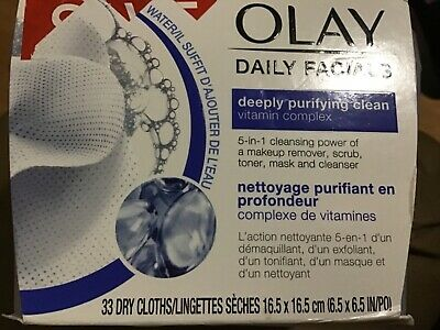 AU10.94 • Buy Olay Daily Facials Dry Cloths - Deeply Purifying Clean - 33's New