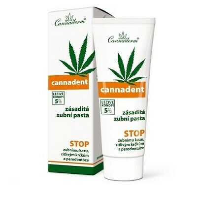 CANNADERM CANNADENT TOOTHPASTE X75ml. - HIGHLY EFFECTIVE REMOVER OF DENTAL PLAQU • 13.99£
