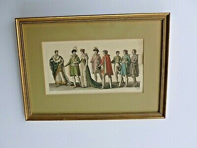 $110 • Buy Antique Engraving From   Costume Ancien Et Modern  1820, By Carlo Bottigella.