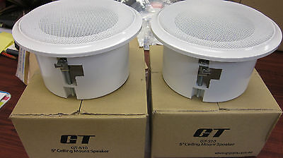 AU35 • Buy 2 X 5 Inch Ceiling Roof Or Wall Mount Speakers Home Theatre 8 Ohm 25 Watt RMS