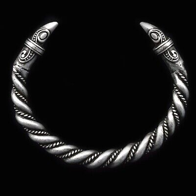 £12.90 • Buy Men's Solid Viking Odin's Raven Twist Antique Silver Norse Cuff Bangle Gift UK