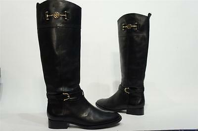 d53d859f6f22 Tory Burch Nadine Riding Black Leather Boots Shoes 10.5  495 • 257.99