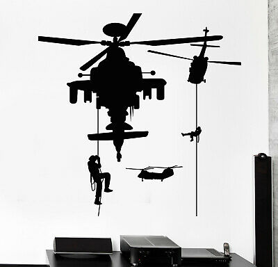 $67.99 • Buy Vinyl Wall Decal Soldiery Helicopter Military War Stickers Mural (g219)