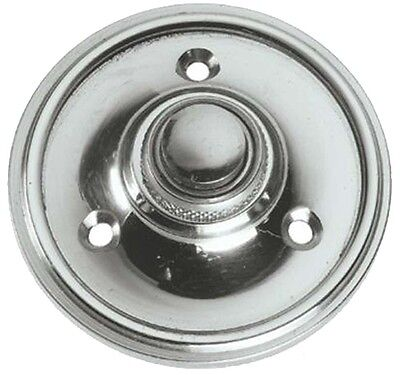 £15.95 • Buy Polished Chrome 60mm Circular Victorian Style Door Bell Push / Switch (BC39)