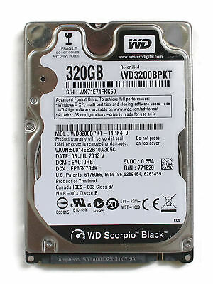 AU246.96 • Buy Wd Scorpio Black 320gb 2.5'' Hdd, 03jul2013 V, Dcm: Eactjhb