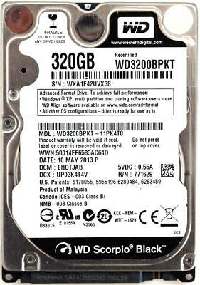 AU246.96 • Buy Wd Scorpio Black 320gb 2.5'' Hdd, 10may2013 P, Dcm: Ehotjab