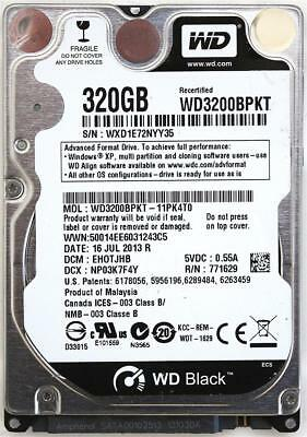 AU246.96 • Buy Wd Scorpio Black 320gb 2.5'' Hdd, 16jul2013 R, Dcm: Ehotjhb