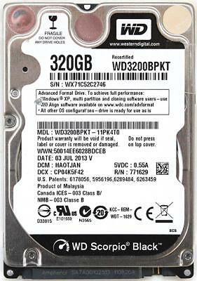 AU246.96 • Buy Wd Scorpio Black 320gb 2.5'' Hdd, 03 Jul 2013 V, Dcm:haotjan