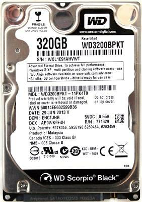 AU246.96 • Buy Wd Scorpio Black 320gb 2.5'' Hdd, 29 Jun 2013 V, Dcm:ehctjhb