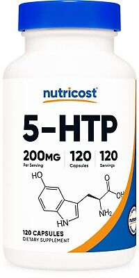 AU21.87 • Buy Nutricost 5-HTP 200mg, 120 Capsules (5-Hydroxytryptophan) - Gluten Free, Non-GMO