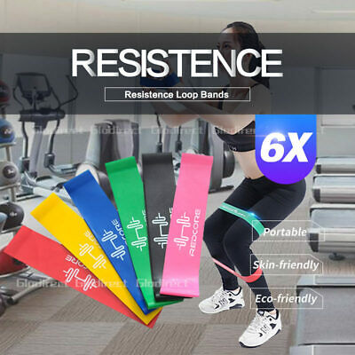 AU13.85 • Buy 6PCS Resistance Bands Power Strength Exercise Fitness Gym Crossfit Yoga Workout