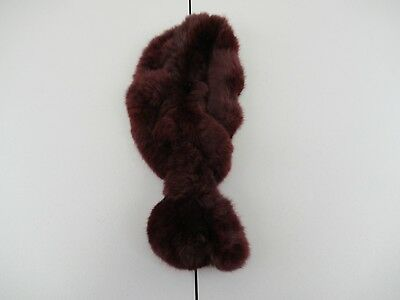 $19.99 • Buy Rabbit Fur Dyed Small Scarf Collar Wrap Shawl Unbranded (Measured 27 )