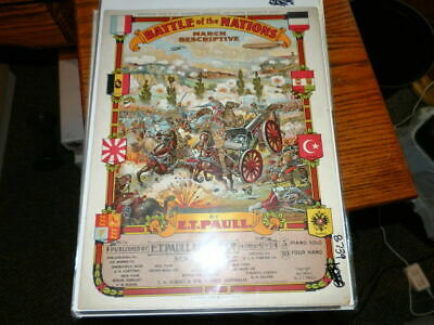 $24 • Buy #8739,E T Paull Seldom Seen Battle Of Nations,1915,Sheet Music