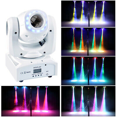 80W Spot GOBO RGBW Stage Lighting LED Moving Head 8 Pattern Disco DJ Party Light • 67.89£