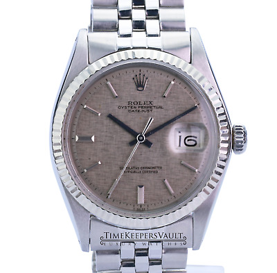 $ CDN5931.65 • Buy Rolex Datejust Mens SS Stainless Steel & 18K White Gold Jubilee Silver Dial 1601