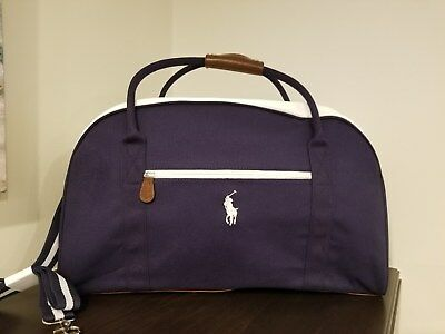 69a86d73c9 Ralph Lauren s Polo Blue Fragrance Duffle Bag Tote Travel Weekend New •  34.00