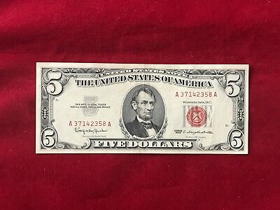 $ CDN36.18 • Buy FR-1536 1963 Series $5  Red Seal  US Legal Tender Note *About Uncirculated*
