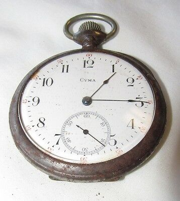 Cyma Brevet Pocket Watch Swiss Early Great For Steam Punk • 40.51£