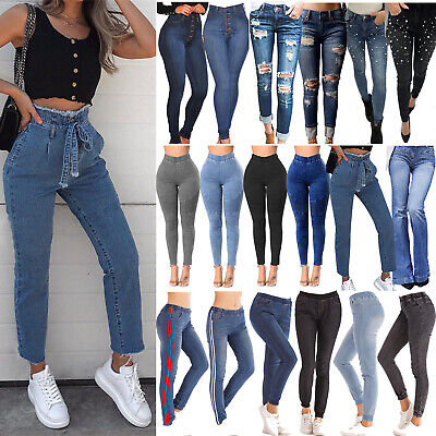 42b7656942fc6 Women's High Waisted Skinny Stretchy Pencil Denim Jeans Jeggings Trousers  Pants • 17.57$