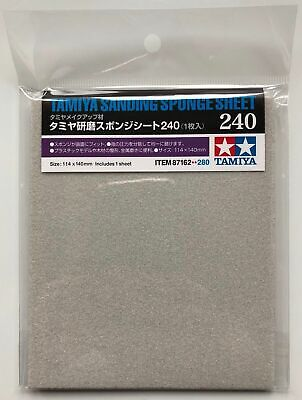 Tamiya 87162 Sanding Sponge Sheet 240 (114x140mm)  • 4.15£