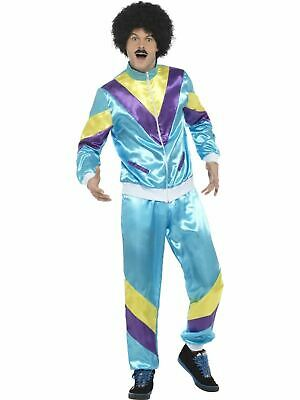 1980s 1990s Scouser Shell Track Suit Mens Fancy Dress Stag Party Costume Outfit • 15.75£