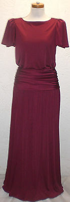 3275b43d8e5 Vintage 70s JCPenney Burgundy Formal Prom Bridal Gown Dress Sz9 10 RN 30426  •
