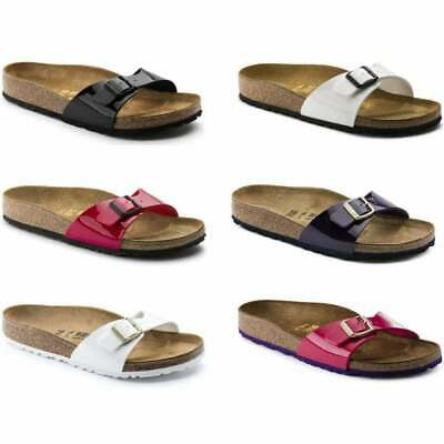 £39.99 • Buy Birkenstock Madrid Patent Birko-Flor Womens Sandal In Various Colours And Sizes