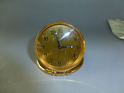 AU811 • Buy Imhof Travel Clock 8 Day Made In Switzerland In Leather Case + Certificate