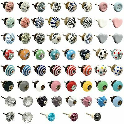 Vintage Door Knobs Ceramic Glass Cupboard Cabinet Drawer Pull Handles • 1.99£