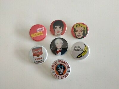 $8.75 • Buy 7 X Andy Warhol Buttons (badges,pins,1inch,pop Art,vintage,print,poster,chanel)