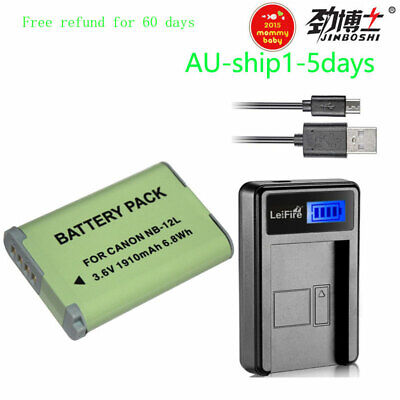 AU40.99 • Buy NB-12L NB12L Battery + Charger For Canon PowerShot N100 G1X G1X Mark II 2 Camera