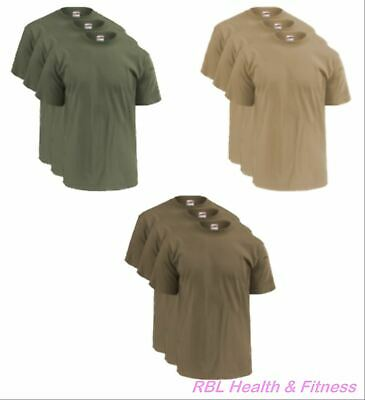 $24.99 • Buy SOFFE 3-Pack OCP Men's T-Shirts -  50/50 Cotton Poly - M280 Olive, Sand Or Tan