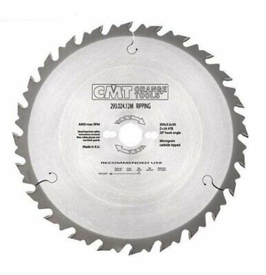 300mm Z=24 ATB Id=30 CMT Table / Rip Saw Blade • 40.74£