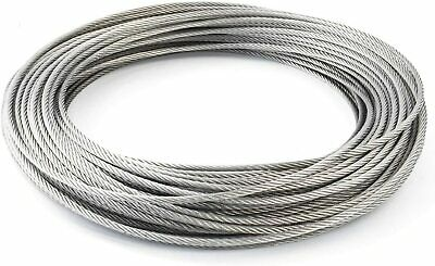 Stainless Steel Wire Rope Metal Cable Rigging 7 X 7 1mm 2mm 3mm 4mm 5mm 6mm 8mm • 1.89£