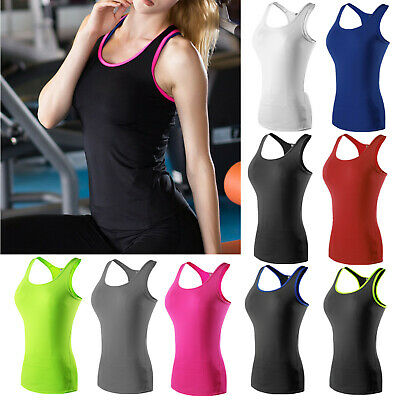 UK Womens Sports Gym Racer Back Running Vest Fitness Jogging Yoga Singlet Top • 7.59£