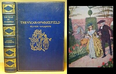1914 The Vicar Of Wakefield OLIVER GOLDSMITH Custom Finebinding ANTIQUE BOOK  • 149.99£