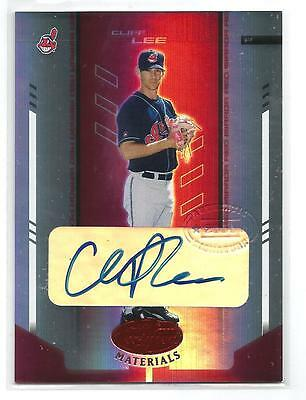 $20 • Buy Cliff Lee 2004 Leaf Certified Materials Mirror Auto Red Auto #107/250 Indians