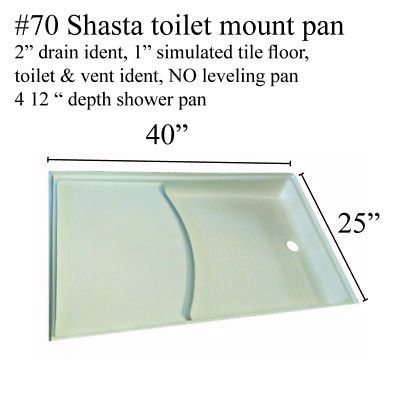 """ABS Specialty Recreation SP2440WL RV Shower Pan 24/""""x40/"""" Left Hand Drain White"""