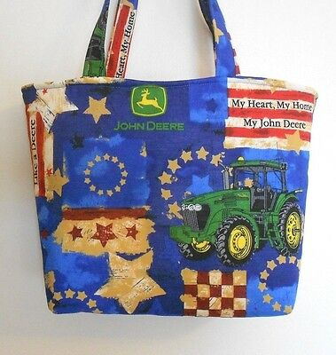 AU17.03 • Buy Handmade John Deere Tractor Red White Blue With Stars Tote Bag Purse LAST ONE