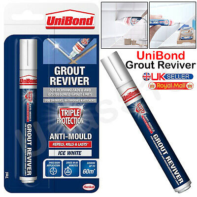 UNIBOND Grout Reviver Pen Unibond Antibacterial Easy Whitener Mould Touch Up • 5.69£