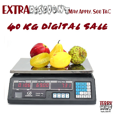 AU42 • Buy  40KG Kitchen Digital Electronic Scale Shop Weight Scales Food