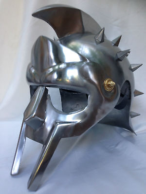 GLADIATOR HELMET MEDIEVAL ROMAN GREEK SPARTAN ARMOR With Exp.shipping • 45.99£