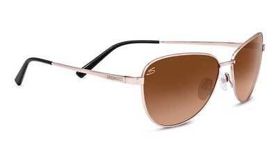 3a06d7dcac1f7 New Serengeti 8414 Gloria Shiny Rose Gold Drivers Gradient Aviator  Sunglasses • 149.99