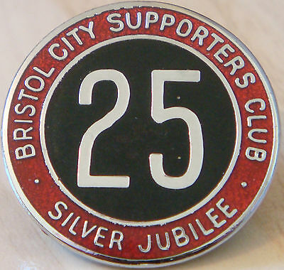 £20 • Buy BRISTOL CITY FC Vintage SUPPORTERS CLUB SILVER JUBILLE Badge Brooch Pin 30mm Dia