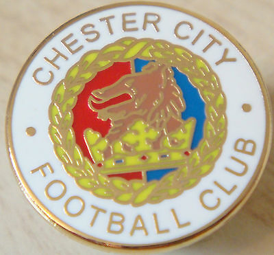 £7 • Buy CHESTER CITY FC Club Crest Type Badge Brooch Pin In Gilt 20mm Dia