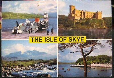 Scotland Isle Of Skye Ferry Castle Cuillins Portree - Posted 1979 • 2.99£