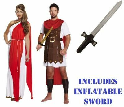 £8.49 • Buy ROMAN GLADIATOR TOGA Fancy Dress Costume Mens Ladies Couples Adults Accessories
