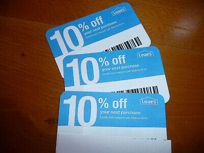 $10.99 • Buy (20x) 10% Off NOVEMBER2020 Lowes Gift Coupons For Home Depot & Competitors Only!