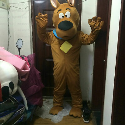 Scooby-doo Dog Brown Character Fancy Dress Cartoon Mascot Costume Adult Suit • 99.99£