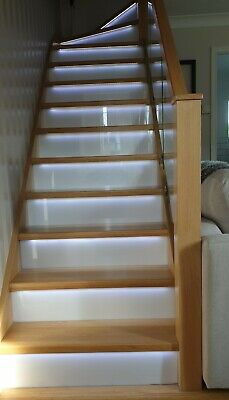 £910.75 • Buy Oak LED Grooved Staircase Steps Cladding System 13 Straight Treads